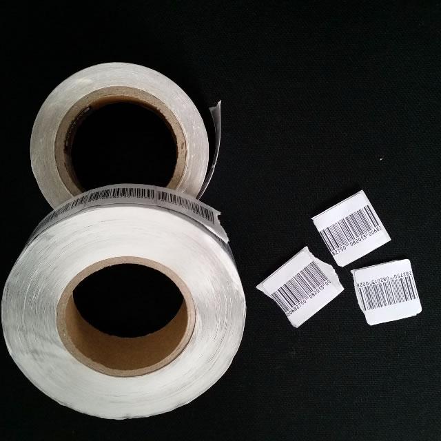 Etiqueta adesiva 4x4 com codigo de barras